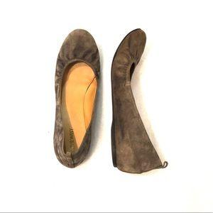 [Nine West] Tan Suede/Leather Ballet Flats - 11